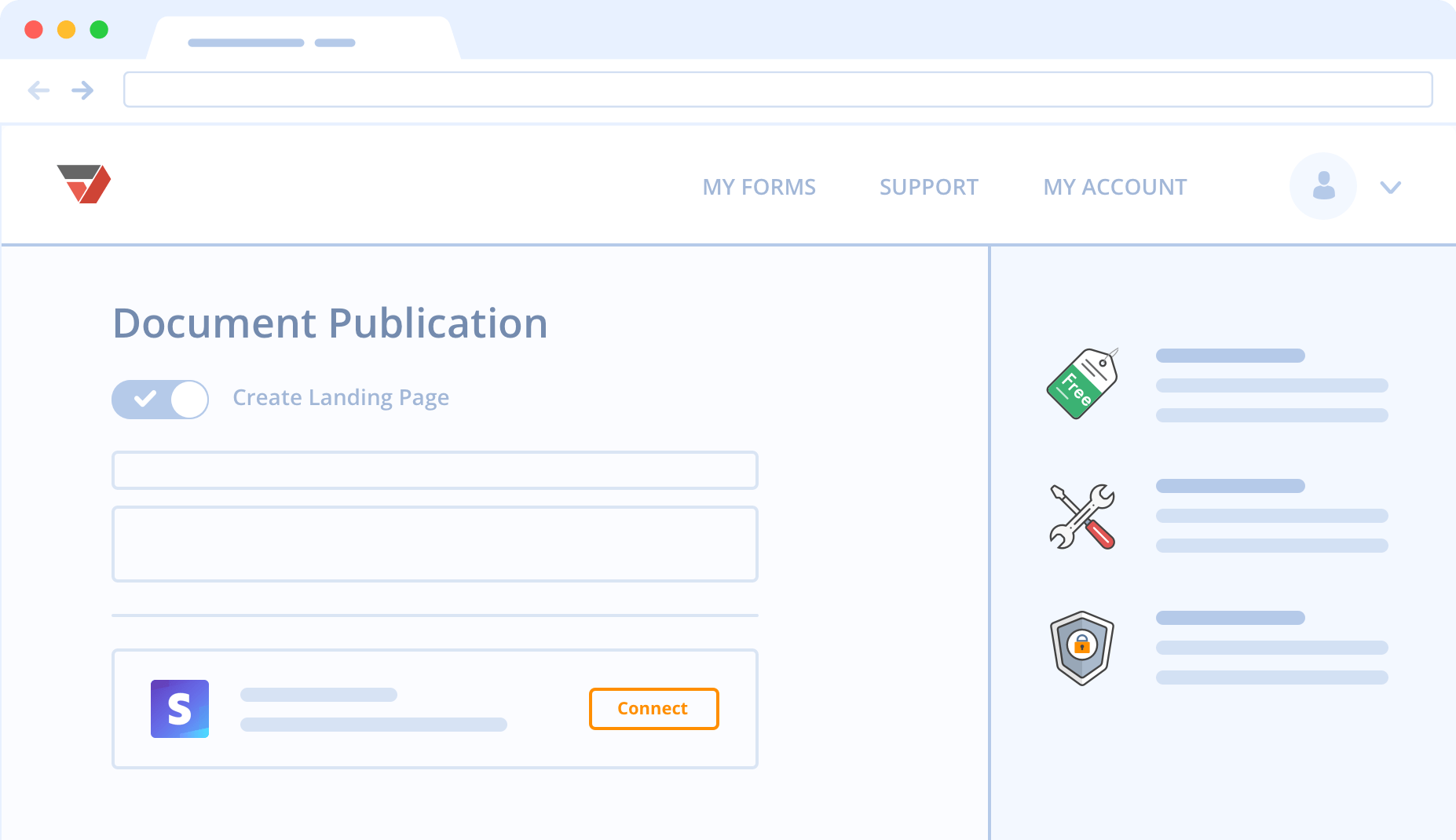Trade digital content with SellMyForms